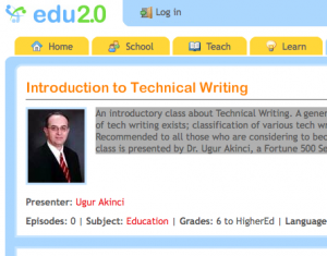 Online class: Introduction to Technical Writing