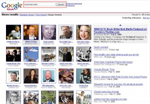 Search results for Google's visually-indexed news links