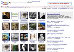 Second layer of Google's visually-indexed news links