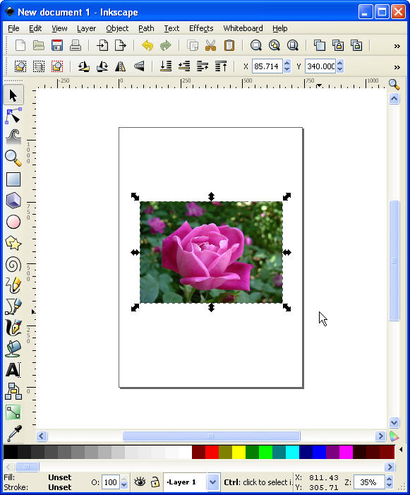 Inkscape – How to Place One Image Inside Another (Clipping)