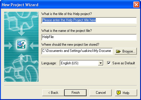 RHW-New Project Wizard