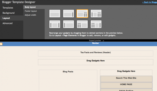 Blogger's NEW User-Defined LAYOUT Options