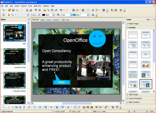 Technical Communication Center OpenOffice Impress 9