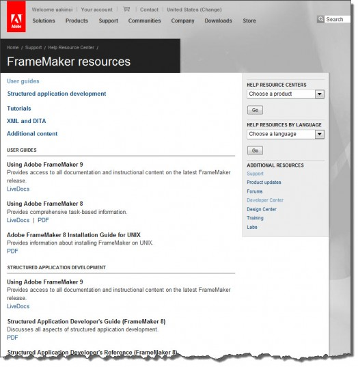 Adobe FrameMaker 9 FM9-Resources