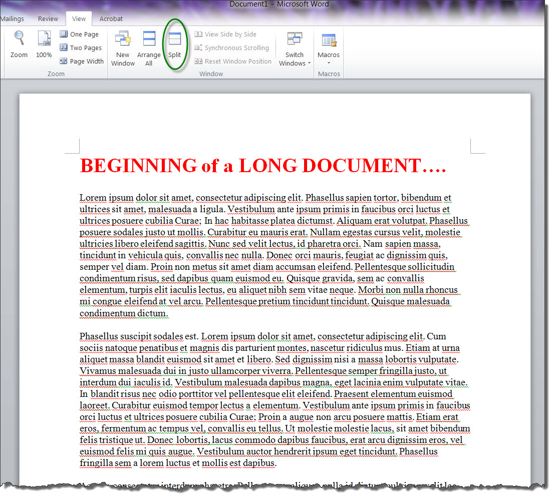 how to delete pages from a long word document
