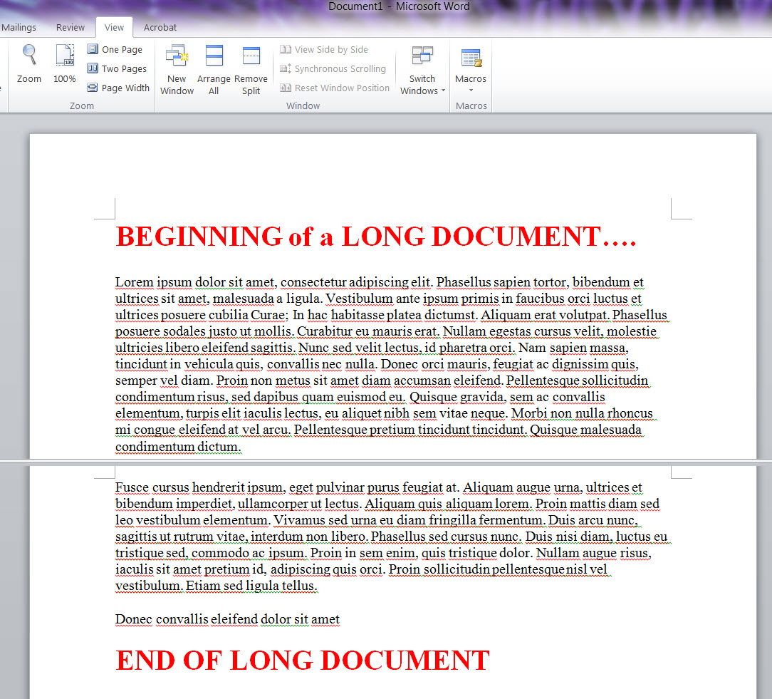 Remove A Page In Microsoft Word Google Search  Ms_word_2010_long_document_split_wndow How To