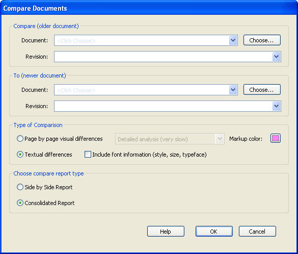 How to compare two PDF Documents with Adobe Acrobat