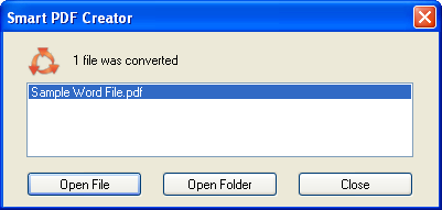 Create PDF file from almost any application with SmartPDFcreator 2