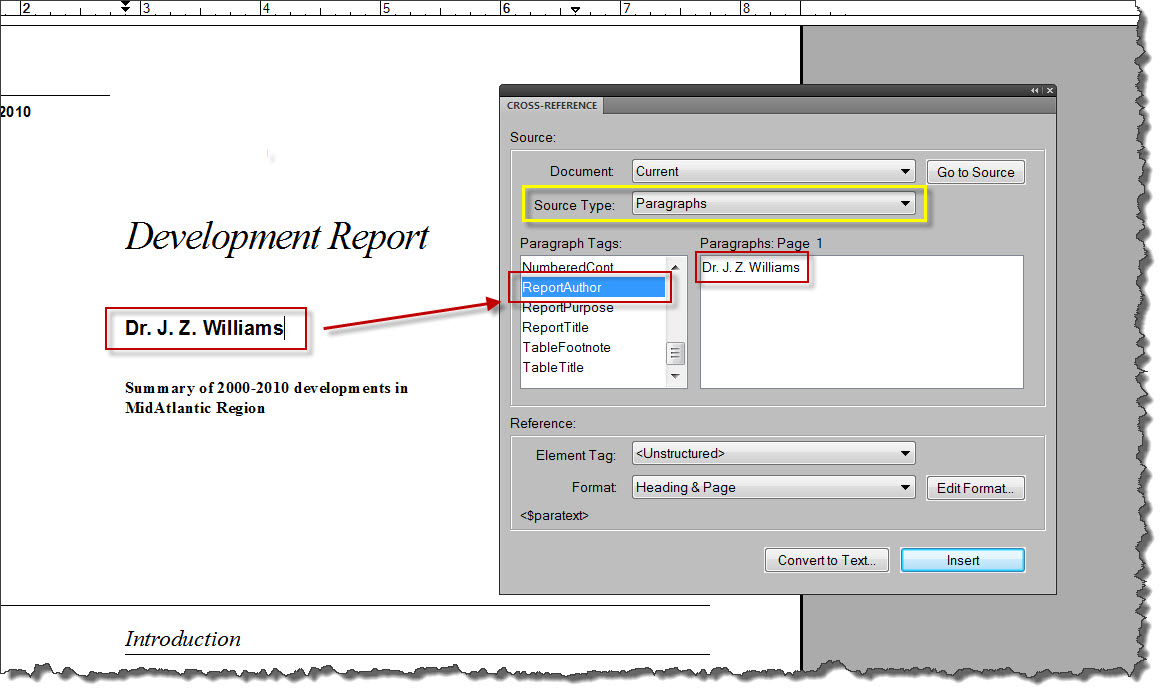 How to Create and Reformat a Cross-Reference in Adobe FrameMaker 9 ...