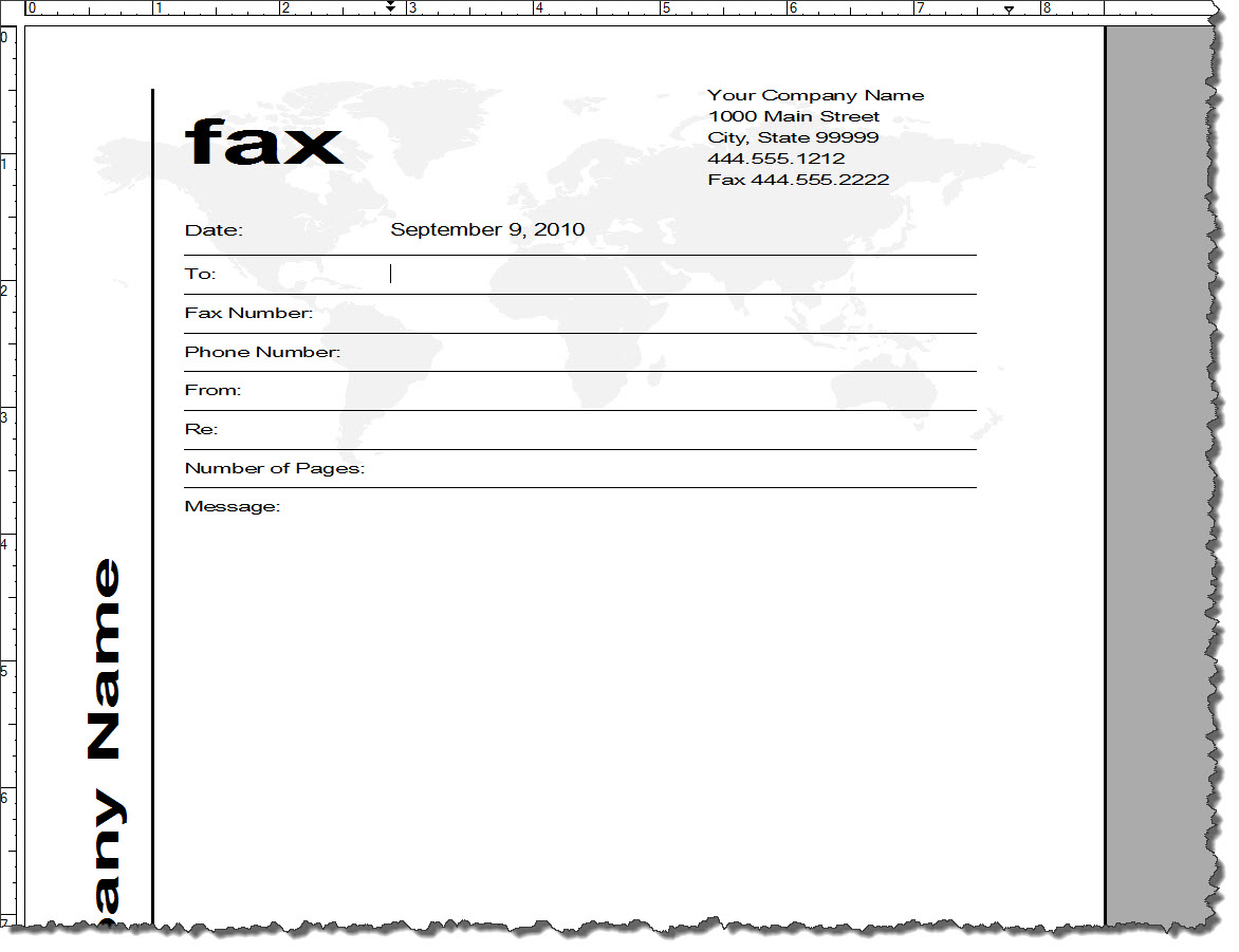 Fax cover sheet template word wajeb Images