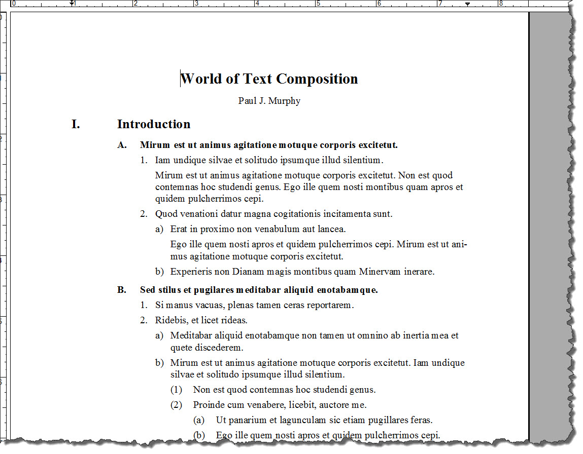 Adobe framemaker 9 default document templates technical for Project outline template microsoft word