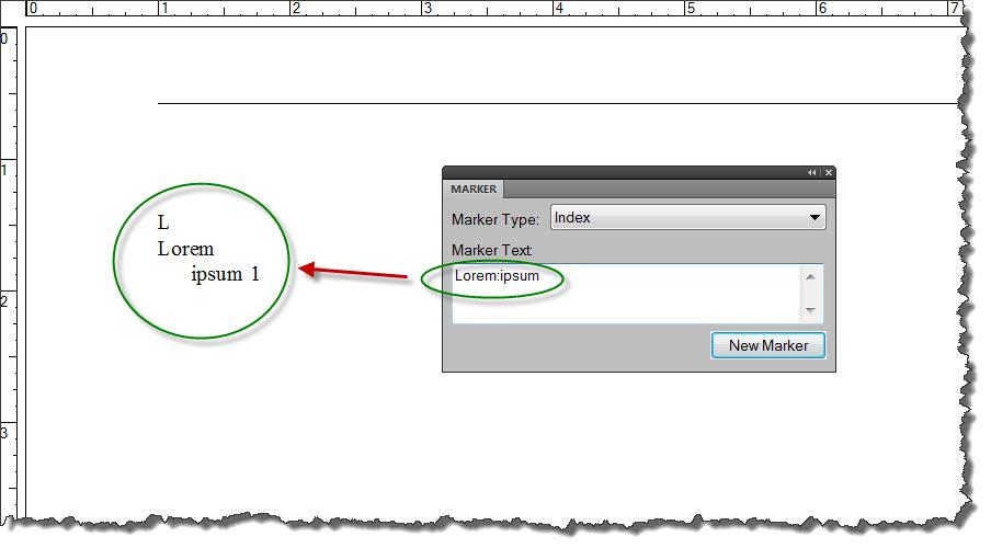 Adobe FrameMaker 9 Indented Index entry
