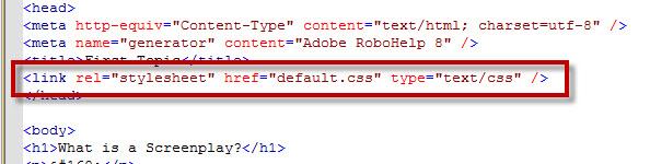 Adobe RoboHelp 8 Linked EXTERNAL CSS File