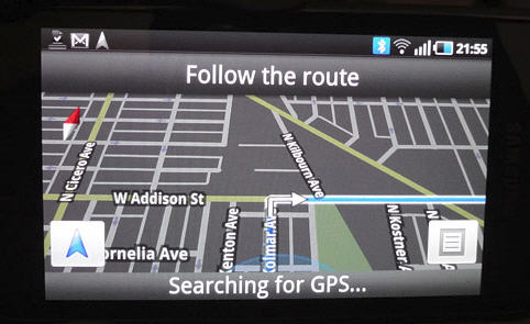 GPS NAVIGATION of my Samsung Galaxy S Android (Google) Phone