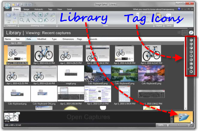 Snagit LIBRARY