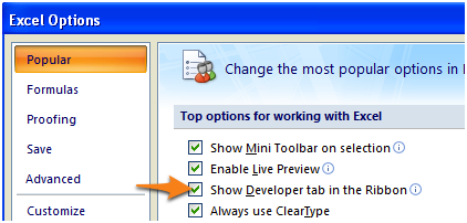 EXCEL developer-ribbon-enabled-in-the-options