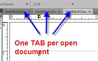 Adobe FrameMaker 9 TABS