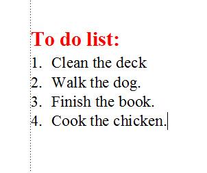 FrameMaker 9 Misaligned List - CORRECTED LIST