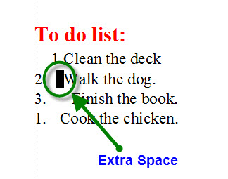 FrameMaker 9 Misaligned List - EXTRA SPACE