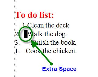 FrameMaker 9 Misaligned List - EXTRA SPACE