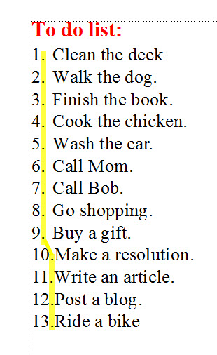 FrameMaker 9 Punctuation Alignment 1