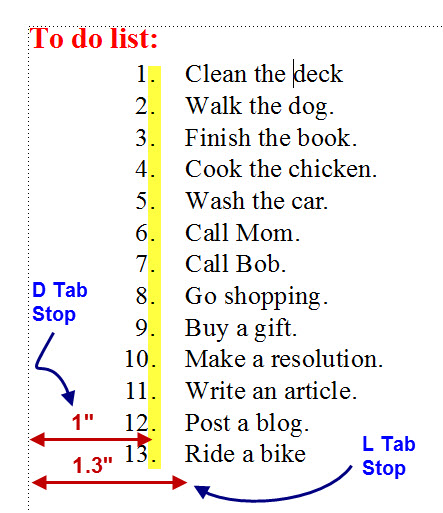 FrameMaker 9 Punctuation Alignment 2
