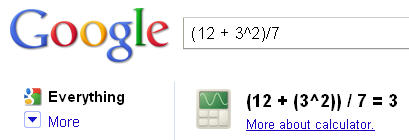 Google Calculator 1