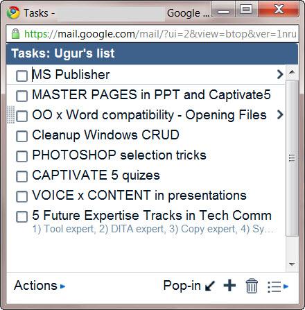Google Tasks 3 - pop-out