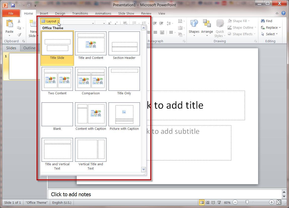 Как сделать два слайда на одном листе
