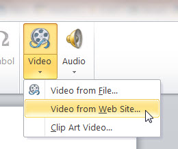 How to Insert a YouTube Video Clip to a MS PowerPoint 2010 Slide Presentation