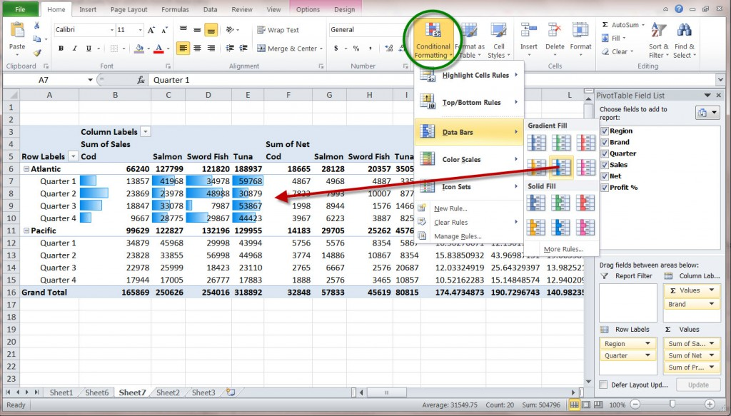 how to create a ms excel 2010 pivot table – an introduction