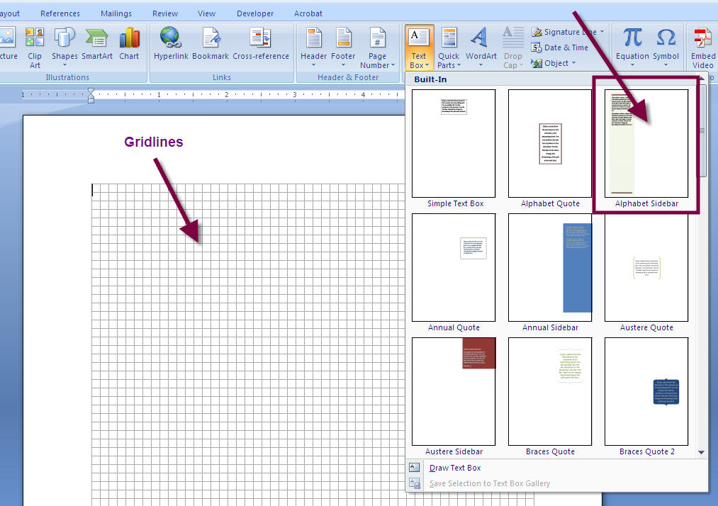 How to Add a Stylish SIDEBAR Text Box to a MS Word 2007 or Word 2010 Document