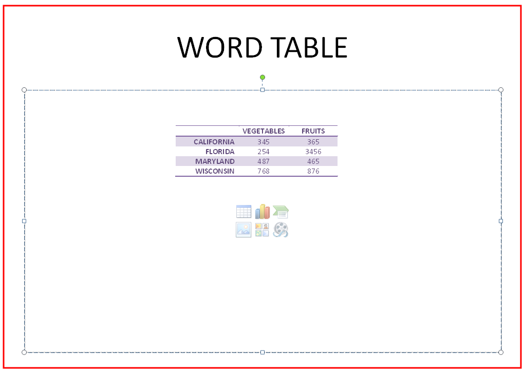 MS Word 2007 Table 4