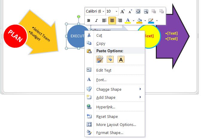 MS Word 2010 Process Arrows 4 RESULTS