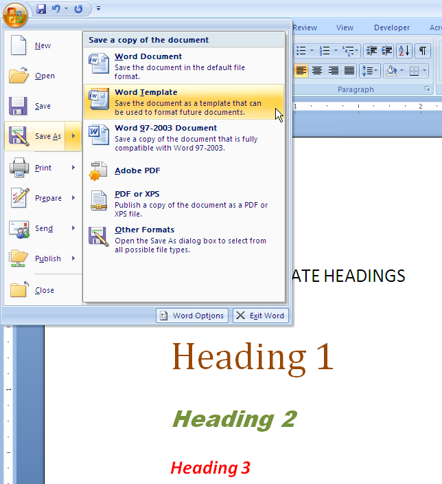 MS Word 2007 2010 SPECIAL TEMPLATE
