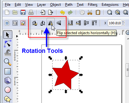 Inkscape Rotation Tools