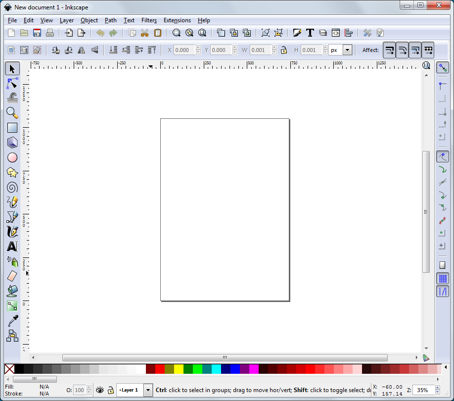Inkscape Starting Window FULL