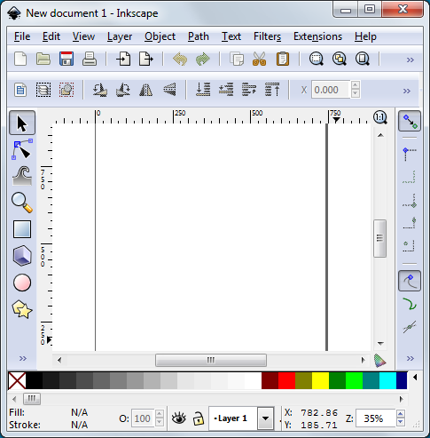 Inkscape Starting Window