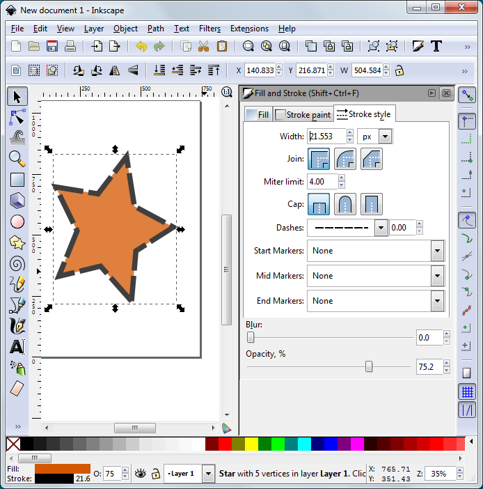 Inkscape Stroke and Fill