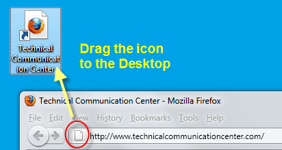 Drag-Icon-Shortcut to Web Site