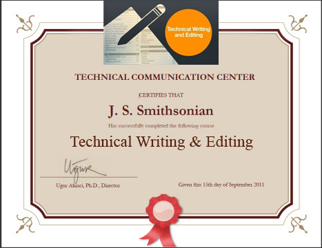 Technical writing certificate programs online, Coursework Academic ...