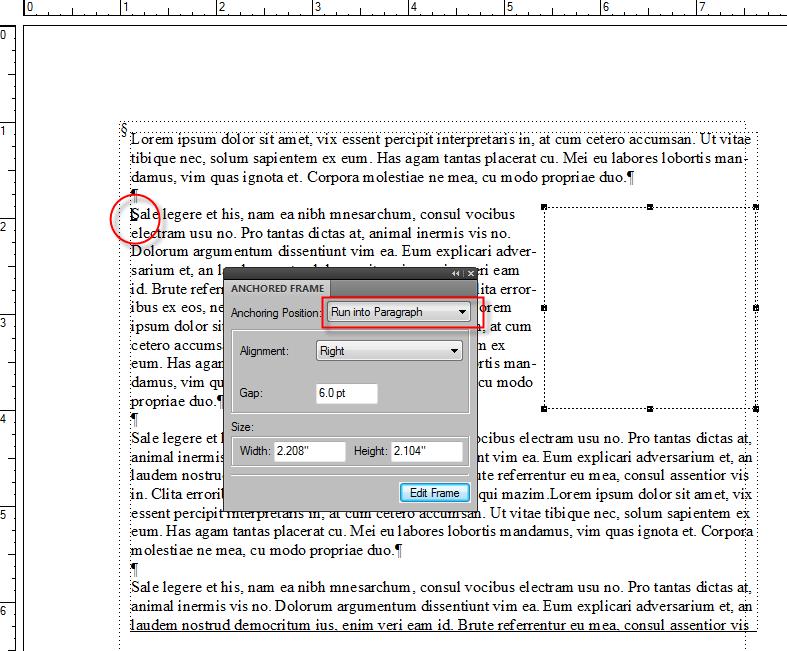 FrameMaker Text Wrap 2
