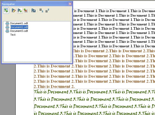 How to Edit and Update the Subdocument Files in an OpenOffice Writer Master Document