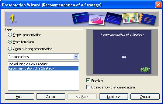 How to Present a Strategy by Using an OpenOffice Impress Presentation Template