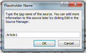 MS Word 2007 Add Placeholder 2