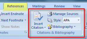 MS Word 2007 Inserting Citation 0