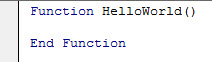 MS Word VBA Function HelloWorld