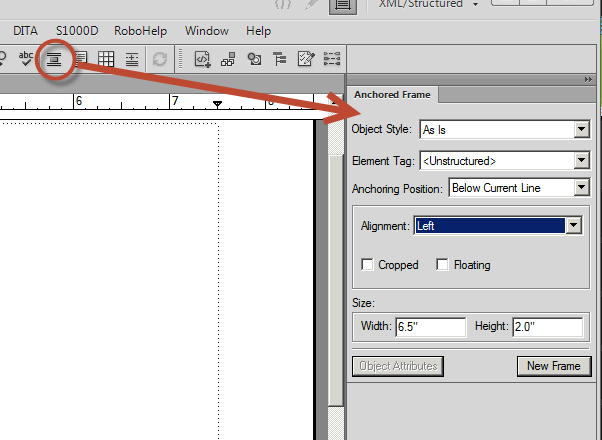 "How to Create an ""Object Style"" for an Anchored Frame in Adobe FrameMaker 11"
