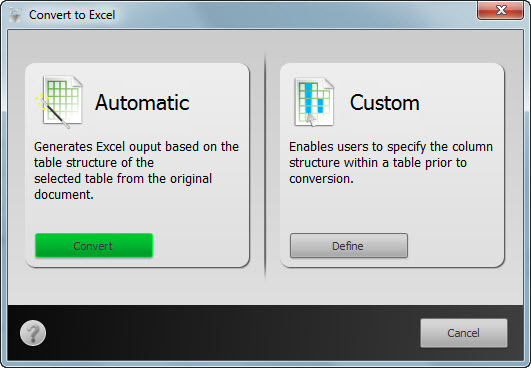 How to convert PDF tables into MS Excel format Able2Extract11_TABLE_PDF2