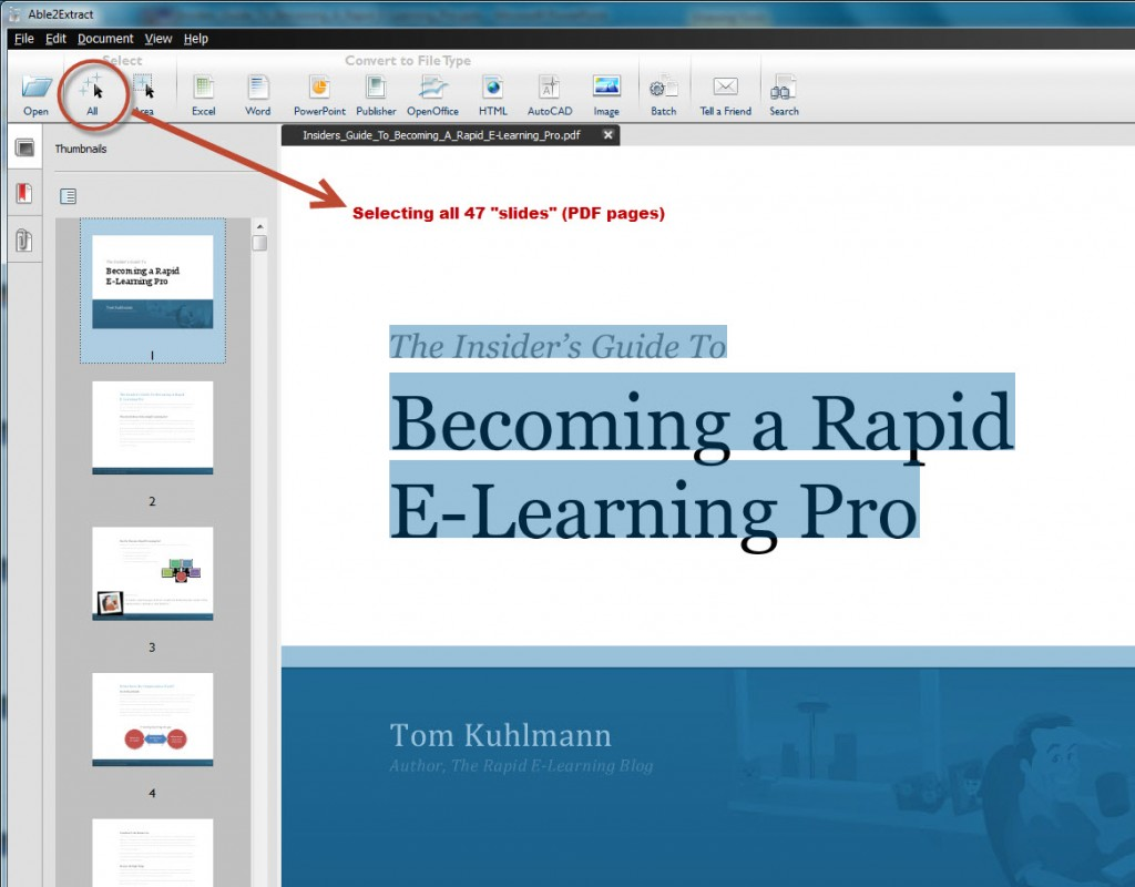 How to Convert a PDF Document into a MS PowerPoint Presentation with Able2Extract